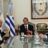 El Gobernador con el embajador de Uruguay