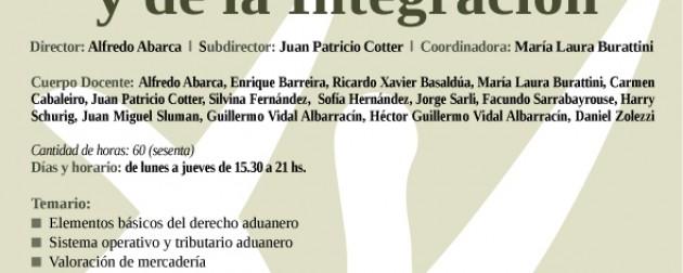 III Posgrado intensivo en Derecho Aduanero y de la Integración
