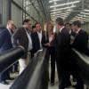 Giorgi asistió a la inauguración en Escobar la nueva planta de Socotherm