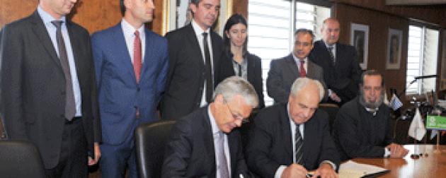 Rossi y ministro belga suscribieron contrato para ampliación de obras del muelle C en puerto de Montevideo