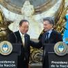 El presidente Macri recibió al secretario General de la ONU