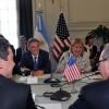 Cabrera y Malcorra recibieron al representante de Comercio de los Estados Unidos, Michael Froman