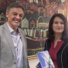 Cabrera recibió a la ministra de Comercio de Suecia