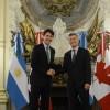 El presidente Mauricio Macri recibió al primer ministro de Canadá
