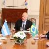 Lifschitz recibió al nuevo embajador de Brasil, Sergio Franca Danese