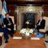 El Presidente recibió al titular del Senado de Chile