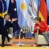 El presidente Macri, junto a Angela Merkel en la Cumbre del G20