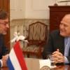 Lipschitz recibió al embajador de los Países Bajos