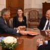 Lifschitz recibió en Rosario a una delegación empresarial de California