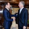 El presidente Mauricio Macri recibió al alcalde de San Pablo