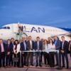 Se inauguró el primer vuelo internacional desde San Juan a Santiago de Chile