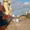 Ultramarino de Hong Kong cargó arroz en el puerto de Concepción del Uruguay