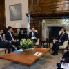 El Presidente recibió a los cancilleres de China, el Reino Unido y Singapur