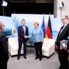 Macri se reunió con Ángela Merkel y Theresa May en el marco de la Cumbre del G7