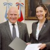 Lipschitz recibió a la embajadora de la Union Europea en Argentina, Aude Maio-Coliche