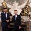 El presidente Macri y el Emir de Qatar Al Thani acordaron consolidar la relación bilateral