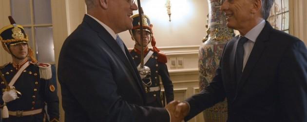 El presidente Macri recibió al premier de Australia