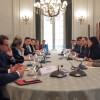 Reunión con eurodiputados en Cancillería