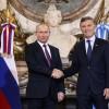 Macri se reunió con el presidente de Rusia, Vladimir Putin