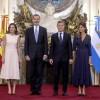 El presidente Macri recibió a los Reyes de España