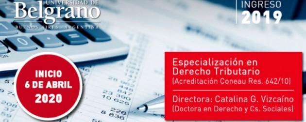 UB – Escuela de Posgrado en Derecho – Especialización en Derecho Tributario