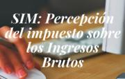 SIM –  Percepción del impuesto sobre los Ingresos Brutos – C.D.A.