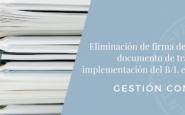 Gestión Conjunta –  Eliminación de firma de ATA en el documento de transporte e implementación del B/L electrónico
