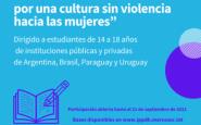 Concurso de cuentos dirigido a estudiantes, por una cultura sin violencia hacia las mujeres