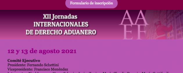 AAEF – XII Jornadas Internacionales de Derecho Aduanero